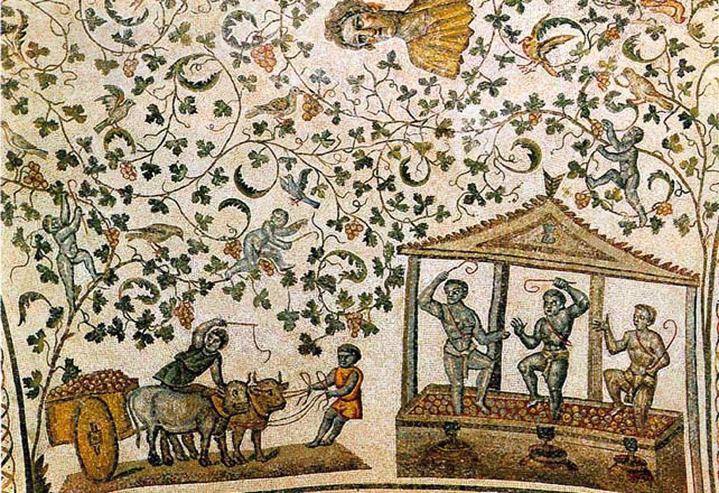 mosaico romano sulla vendemmia